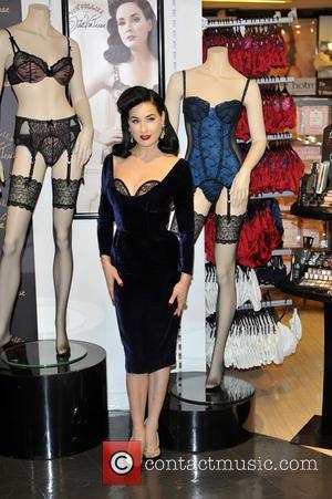 Dita Von Teese launches her Von Follies lingerie range at Debenhams  Featuring: Dita Von TeeseWhere: London, United Kingdom When:...