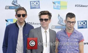 Andrew Dost, Nate Ruess, Jack Antonoff,  at the DoSomething.org and VH1's 2012 Do Something Awards 2012 at Barker Hangar...