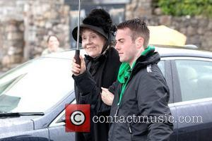 Dame Diana Rigg BBC One series sci fi series 'Doctor Who' shoots in Butetown Cardiff, Wales - 02.07.12