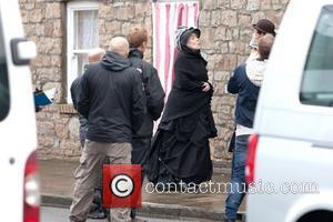 Dame Diana Rigg BBC One series sci fi series 'Doctor Who' shoots in Butetown Cardiff, Wales - 02.07.12,
