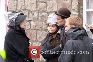 Dame Diana Rigg,Matt Smith, Jenna-Louise Coleman  BBC One series sci fi series 'Doctor Who' shoots in Butetown Cardiff, Wales...