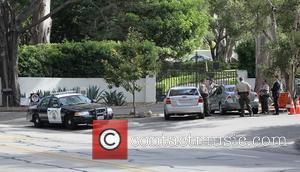 Police pressence and a road block for the wedding of Drew Barrymore and Will Kopelman Montecito, California - 02.06.12...