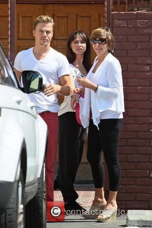Derek Hough, his mother and Karina Smirnoff Celebrities seen outside the rehearsal space for 'Dancing With the Stars' Los Angeles,...