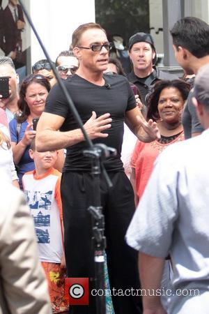 Jean-Claude Van Damme at The Grove to appear on entertainment news show 'Extra'  Los Angeles, California - 16.08.12