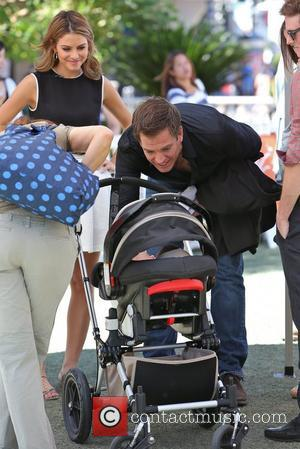 Michael Weatherly and Maria Menounos seen at The Grove to appear on entertainment news show 'Extra' Los Angeles, California- 16.10.12