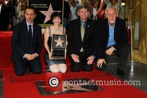 Andrew Lincoln, Gale Anne Hurd, Leron Gubler and James Cameron