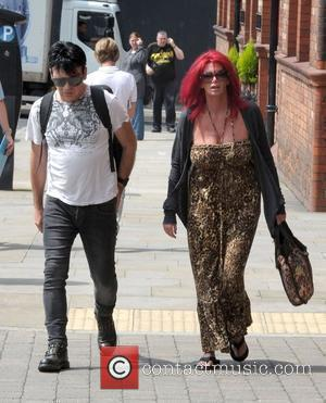 Gary Numan and his wife Gemma Numan outside their hotel in Manchester Manchester, England - 25.07.12