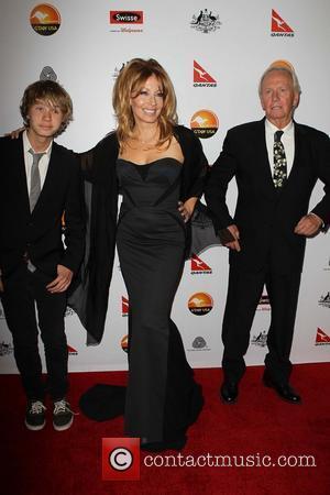 Linda Kozlowski; Paul Hogan and son Chance Hogan G'Day USA Black Tie Gala at the JW Marriot at LA Live...