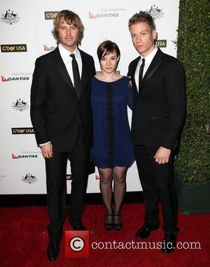 Eric Christian Olsen, RenŽe Felice Smith, and Barrett Foa 9th Annual G'Day USA Gala held at the Grand Ballroom inside...