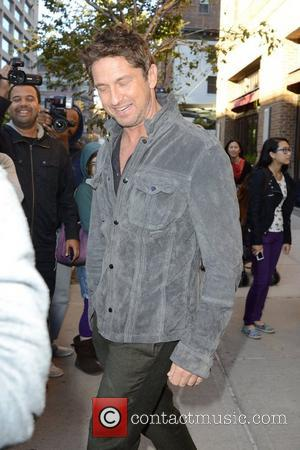 Gerard Butler is seen leaving his hotel in Manhattan New York City, USA - 22.10.12