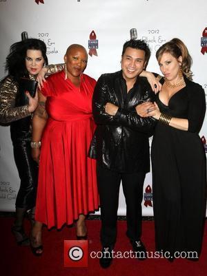 Chyna, Frenchie Davis, Christian Moralde, Lisa Ann Walter 2012 Black & Gold Gala held at The L.A. Studio Center Los...