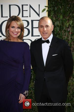 Matt Lauer (r) and Savannah Guthrie 70th Annual Golden Globe Awards held at the Beverly Hilton Hotel - Arrivals...