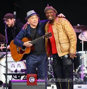 Paul Simon and Jimmy Cliff,  perform the album 'Graceland' live at Hard Rock Calling in Hyde Park - Day...