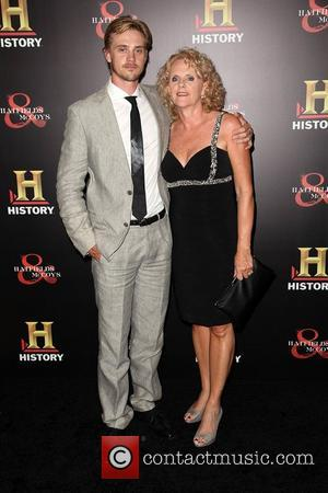 Boyd Holbrook and mom Ellen  HISTORY hosts a Pre-Emmy party at Soho House in celebration of sixteen Hatfields &...