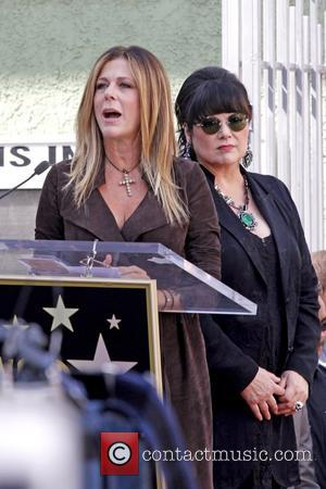Rita Wilson and  Ann Wilson Heart is  honored with a Hollywood Star on the Hollywood Walk of Fame...