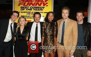 Kristen Bell, Joy Bryant, Dax Shepard, Bradley Cooper and guests at the Los Angeles premiere of 'Hit & Run' at...