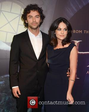 Aidan Turner and Sarah Greene  Irish Premiere of 'The Hobbit: An Unexpected Journey' at The Savoy - Arrivals Dublin,...