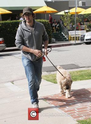 Josh Groban walks his dog in Hollywood Hollywood, California - 21.02.12