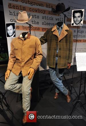 Brokeback Mountain - Heath Ledge and Jake Gyllenhall Hollywood Costume - press view held at the Victoria and Albert Museum....