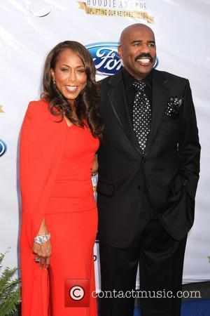 Steve Harvey, Marjorie Harvey The 10th Annual Ford Hoodie Awards at MGM Grand Garden Arena - Arrivals  Las Vegas,...