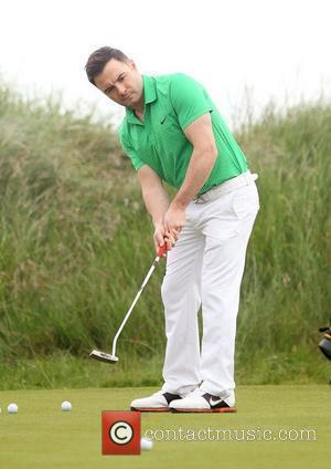 Shane Filan of Westlife  Pro-am for the 2012 Irish Open held on the Dunluce Links at at Royal Portrush...