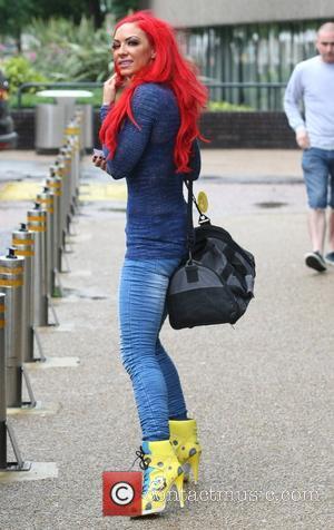 Jodie Marsh leaves the ITV studios London, England - 16.07.12