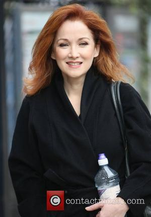 Kym Thomson outside the ITV studios London, England - 12.01.12