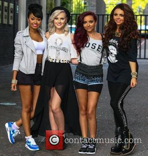 Leigh-Anne Pinnock, Perrie Edwards, Jade Thirlwall and Jesy Nelson Little Mix at the ITV Studios London, England - 14.08.12