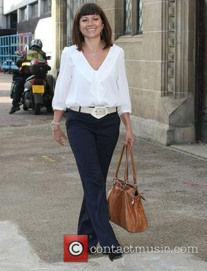 Clare Nasir outside the ITV studios London, England - 26.01.12