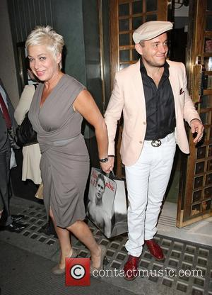 Denise Welch and boyfriend Lincoln Townley leaving the Ivy Restaurant London, England - 26.06.12