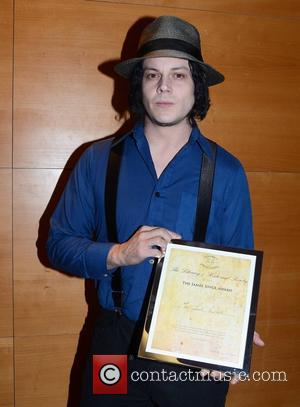 Jack White is presented with the James Joyce Award by the Literary and Historical Society at University College Dublin Dublin,...