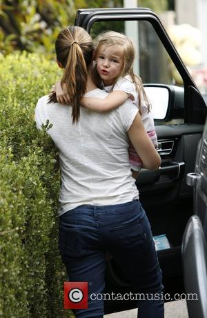 Jennifer Garner out in Hollywood with her daughter Seraphina Los Angeles, California - 06.10.12