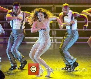 Jennifer Lopez performing on stage during her world tour 'Dance Again' at the O2 Arena  Dublin, Ireland - 19.10.12