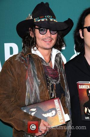 Johnny Depp Damien Echols in Conversation with Johnny Depp at Barnes & Noble Union Square New York City, USA -...