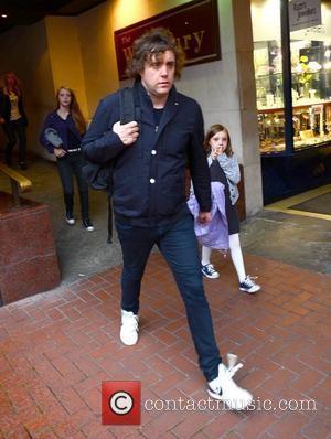 Ian Matthews of Kasabian leaving his hotel on the way to a concert Dublin, Ireland - 23.08.12