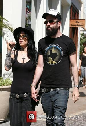 Kat Von D and her new boyfriend, English rapper, Scroobius Pip (real name David Meads) out and about in West...