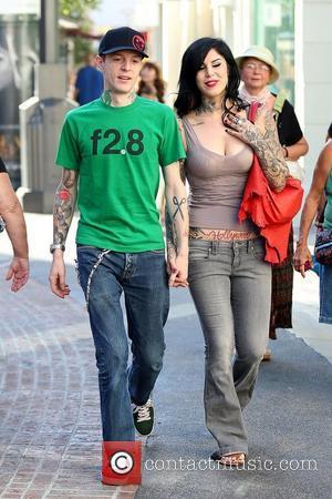 deadmau5 aka Joel Thomas Zimmerman and Kat Von D Kat Von D holding hands with her boyfriend while shopping at...
