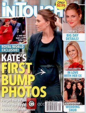 Catherine, Duchess of Cambridge, aka Kate Middleton  appears on the cover of in Touch magazine with what appears to...