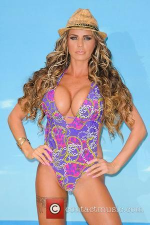 Katie Price launches her new swimwear range for Katie's Boutique for Store 21 at The Worx Studios London, England -...