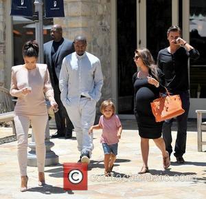 Kim Kardashian, Kanye West, Mason Dash Disick, Scott Disick and a very pregnant Kourtney Kardashian Kim Kardashian goes to Calabasas...