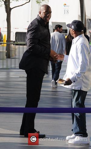 Magic Johnson and Staples Centre