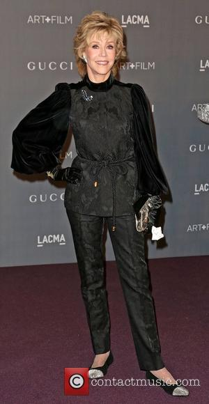 Jane Fonda LACMA 2012 Art + Film Gala Honoring Ed Ruscha and Stanley Kubrick presented by Gucci at LACMA -...