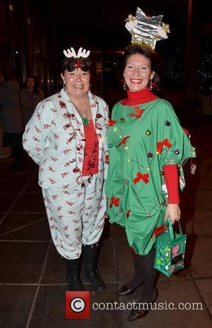 Teresa Glendinning, Michelle J Celebrities outside the RTE studios for Ryan Tubridy's annual 'The Late Late Toy Show' where audience...
