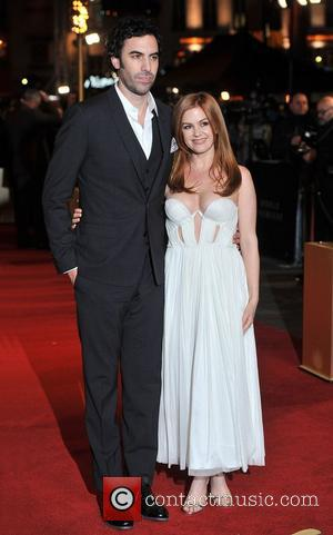 Sacha Baron Cohen, Isla Fisher and Empire Leicester Square