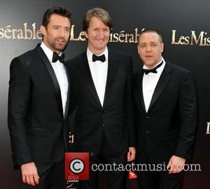 Hugh Jackman; Tom Hooper; Russell Crowe The Australian premiere of 'Les Miserables' at the State Theatre - Arrivals  Featuring:...