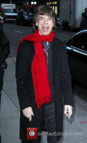 Mick Jagger outside the Ed Sullivan theatre for 'The Late Show' with David Letterman  Featuring: Mick Jagger