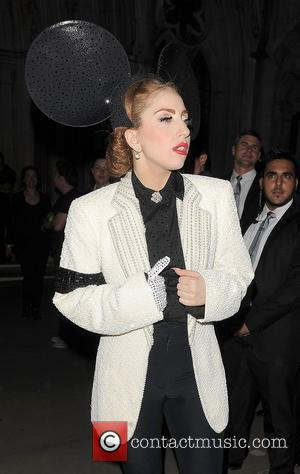 Lady Gaga London Fashion Week Spring/Summer 2013 - Philip Treacy - Outside Departures. London, England - 16.09.12