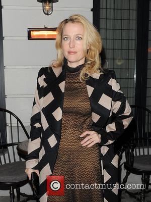 Gillian Anderson at Little House restaurant in Mayfair. London, England - 15.10.12