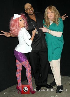 Kelly Ripa, Nicki Minaj, Michael Strahan, Randy Jackson, Art Moore and Mariah Carey