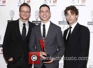 Will Chase, Stephen Karam and Christian Borle The 2012 Lucille Lortel Awards held at NYU Skirball Center - Press Room...